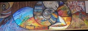 La fresque à l'arrivée à Plaine Corail