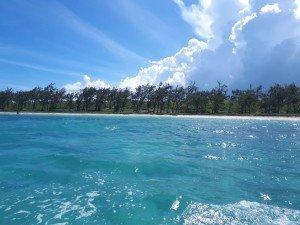 Vue du lagon sur l'île aux Chats