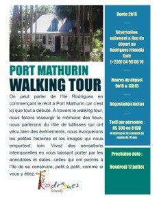 Affiche Port Mathurin Walking Tour avec date